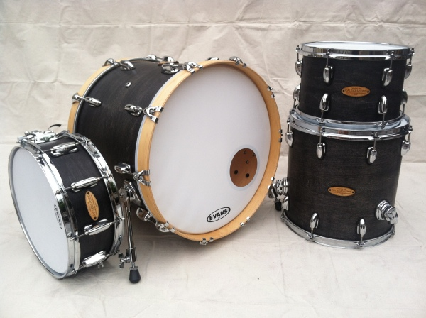 "Our new Abbey 4-piece kit in ""weathered ebony"" satin finish."